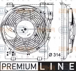 A/C condenser Fan HELLA 8EW 009 157-451-20