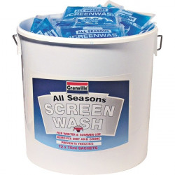 Screenwash Bucket Ready Mixed (-20C) 72 x 75ml Sachets-20