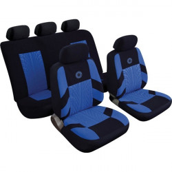 Car Seat Cover Precision Set Black/Blue-20