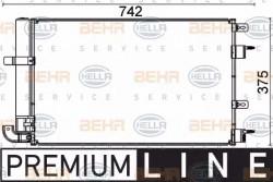 Air Con Condenser HELLA 8FC 351 318-601-21