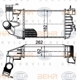 Intercooler HELLA 8ML 376 988-364-20