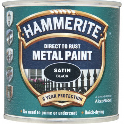 Direct To Rust Metal Paint Satin Black 250ml-20