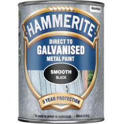 Direct To Galvanised Metal Paint Black 750ml-20