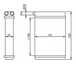 Heat Exchanger NRF 52221-20