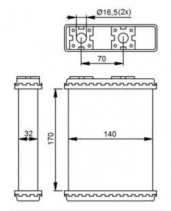 Heat Exchanger NRF 52230-20
