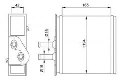 Heat Exchanger NRF 53204-20