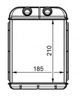 Heat Exchanger NRF 53668-20