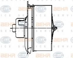 Interior Blower for Mercedes Benz O 402, 405, 407, 408 HELLA 8EW009158-581-21