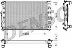 Radiator, engine cooling for Audi, Skoda, VW DENSO DRM02032-21