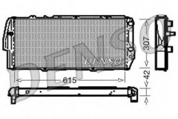 Radiator, engine cooling Audi 100, 200 DENSO DRM02040-21