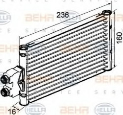 Oil Cooler, automatic transmission for Mercedes CLS, E, M class HELLA 8MO376747-201-21