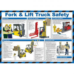 Fork Lift Truck Safety Guidance Poster 59cm x 42cm-20
