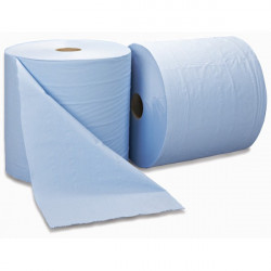 3 Ply Blue Bumper Wiping Roll 300m x 370mm-20