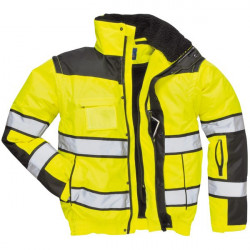 Hi-Vis Bomber Jacket Yellow/Black Small-20