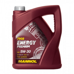 5 Litre MANNOL Energy Premium 5W-30 Fully Synthetic Car Engine Oil MN7908-5-21