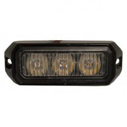 LED Strobe Lamp Amber 3 x 3W 12/24V-20