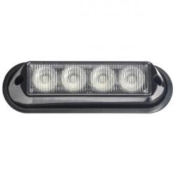 LED Strobe Lamp Amber 4 x 3W 12/24V-20