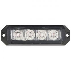 LED Strobe Lamp Concealed Amber 4 x 3W 12/24V-20
