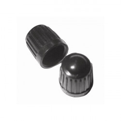 Car Dust Caps Black Pack Of 100-20