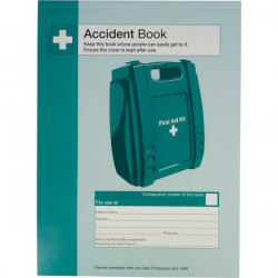 First Aid Accident Book A4-20