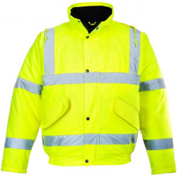 Hi-Vis Bomber Jacket Yellow Small-20