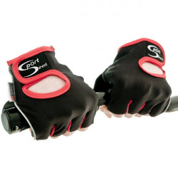 Cycle Track Mitts Black/Red Small-20