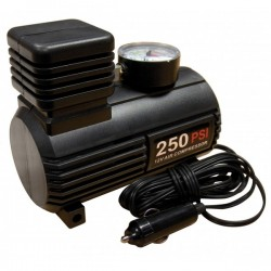 Tyre Inflator 12V Compact Compressor With Gauge 0-250 PSI-20