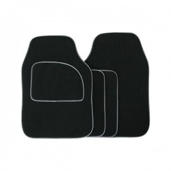 Standard Universal Mat Set Velour Black/Grey Binding 4 Piece-20