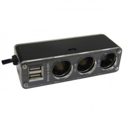 Triple Socket Adaptor and Twin USB 12V-20