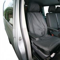Van Seat Cover Front Single Black Volkswagen Transporter (2003 Onwards)-20