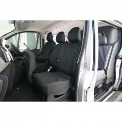 Van Seat Cover Passenger Double Black Renault Trafic, Vauxhall Vivaro, Nissan NV300 and Fiat Talento-20