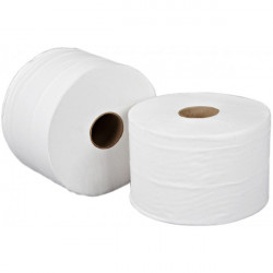 2 Ply White Mini Jumbo Toilet Rolls 115m Pack of 12-20