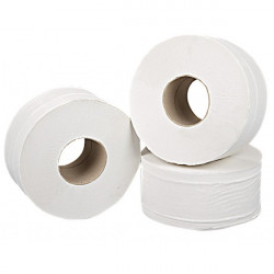 2 Ply White Mini Jumbo Toilet Rolls 150m Pack of 12-20