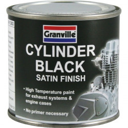 High Temperature Cylinder Paint Black Satin 250ml-10