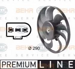 A/C condenser Fan HELLA 8EW 009 144-601-10