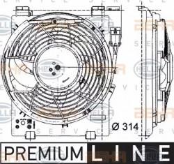 A/C condenser Fan HELLA 8EW 009 157-451-10