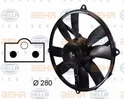 A/C condenser Fan HELLA 8EW 009 158-751-11