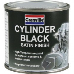High Temperature Cylinder Paint Black Satin 100ml-10