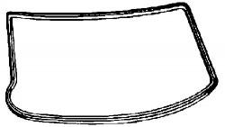 Seal, windscreen FEBI BILSTEIN 02736-11