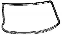 Seal, windscreen FEBI BILSTEIN 08886-11