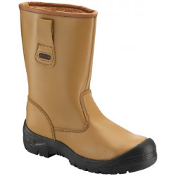 Rigger Boots with Scuff Cap Tan UK 6-10