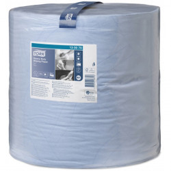 2 Ply Premium Heavy Duty Wiping Paper Blue 340m Bumper Roll-10