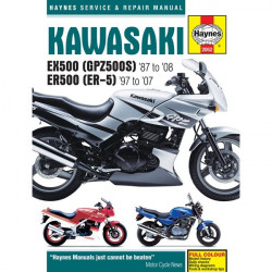 Motorcycle Manual Kawasaki EX500 GPZ500S (1987-2008) ER500 ER-5 (1997-2005)-10