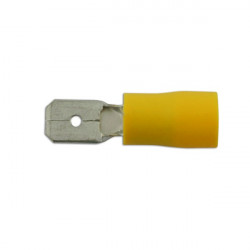 Wiring Connectors Yellow Male Blade 6.3mm Pack Of 100-10