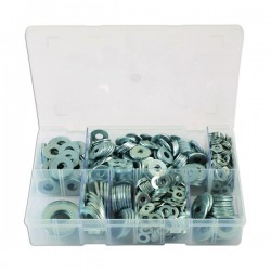 Zinc Plated Washers Form C Flat Assorted Box Qty 495-10