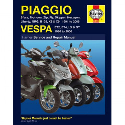 Motorcycle Manual Piaggio (Vespa) Scooters (1991-2006)-10