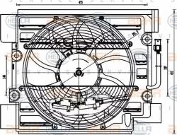 A/C condenser Fan HELLA 8EW 351 040-101-11