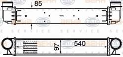 Intercooler HELLA 8ML 376 776-154-10
