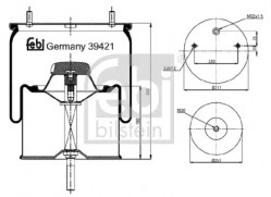 Air Suspension Boot FEBI BILSTEIN 39421-10