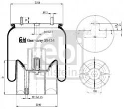 Rear left or right Air Suspension Boot FEBI BILSTEIN 39434-10